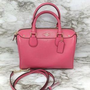 COACH-Pink Mini Bennett Satchel